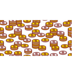 seamless pattern with coins vector image