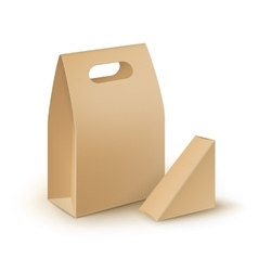 Set of Cardboard Handle Lunch Boxes For Sandwich vector