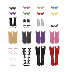 Set of female shoes vector