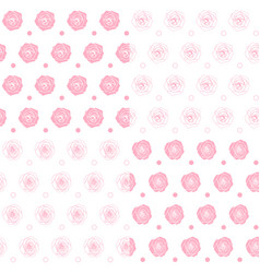 set seamless patterns with roses vector image
