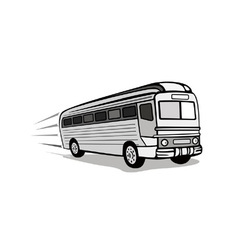 Shuttle Coach Bus Retro vector image
