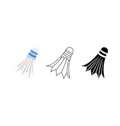 shuttlecock icon trendy modern flat linear vector image