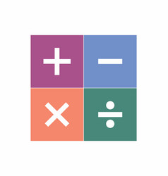 Signs of basic math operations vector