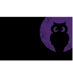 Silhouette of owl halloween backgrounds vector image