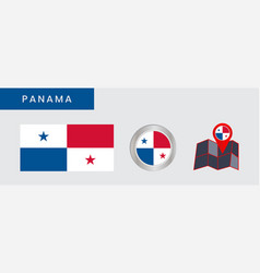 Simple flag panama is isolated in official vector