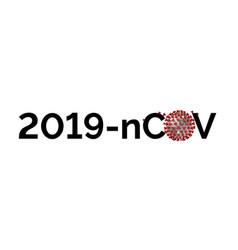 stay at home keep distance due to 2019 ncov virus vector image