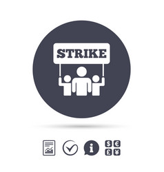 Strike sign icon group people symbol vector