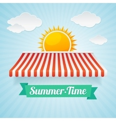 summertime card vector image