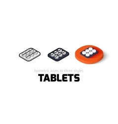Tablets icon in different style vector