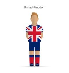 United Kingdom football player Soccer uniform vector