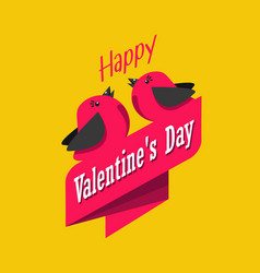 valentine s day greeting card with birds vector image