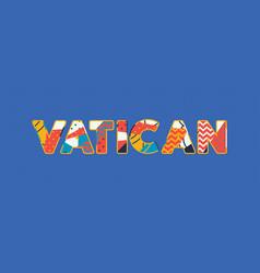 Vatican concept word art vector