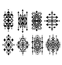 Vintage mexican aztec tribal traditional vector