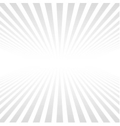white background light gray rays beyond horizon vector image