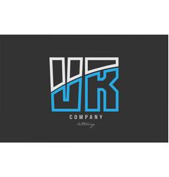 White blue alphabet letter vr v r logo icon design vector