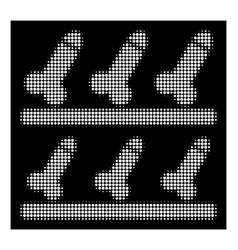 White halftone sexshop shelves icon vector