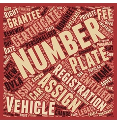 Your Personalised Number Plate Explained vector