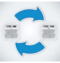 Circular Arrows - Two Steps vector image
