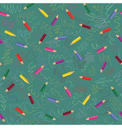 colored pencils - seamless pattern vector image vector image