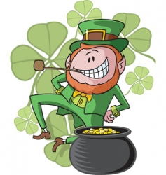dancing leprechaun vector image
