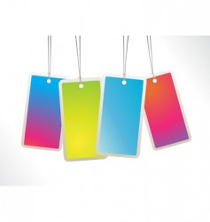 hanging labels vector image