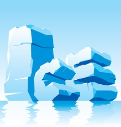 ice word vector image vector image