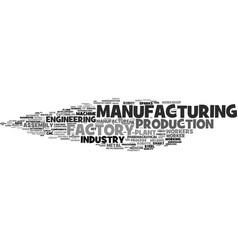 Manufacturing word cloud concept vector