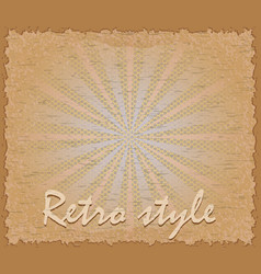 retro style poster horizontal vector image