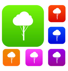 tree set collection vector image