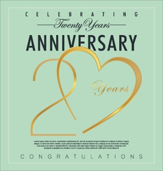 20 years Anniversary background vector image vector image