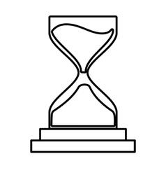 clock glass sand business clock money line vector image vector image