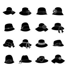 elegant hats vector image
