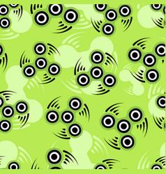 hand spinner or fidget pattern vector image vector image