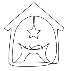 jesus baby child vector image vector image