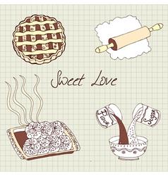 Sweet baking vector