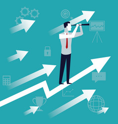 color background business growth with executive vector image