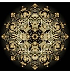 gold round vintage frame vector image