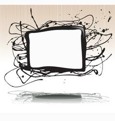 splash ink plate vector image