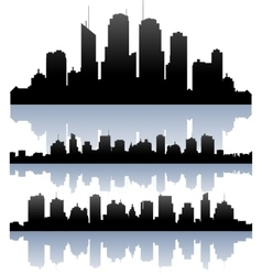 cityscape skyline buidlings silhouette vector image vector image