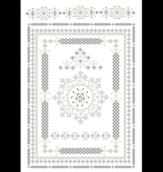 Decorative ta pis of oriental pattern vector image vector image
