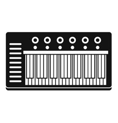 electronic synth icon simple style vector image