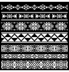 Mexican american tribal art decor brushes vector image vector image