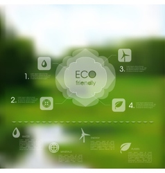natural template for eco website vector image