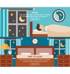 Sleep Time Banner vector image