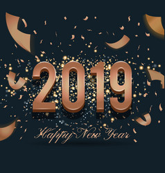 2019 happy new year celebration background design vector image