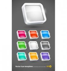 3d color icons set vector image