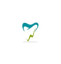 abstract dental logo vector image