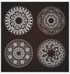 Abstract round ornaments vector