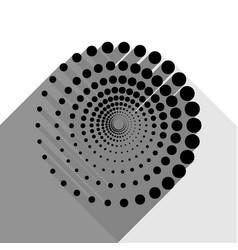 abstract technology circles sign black vector image
