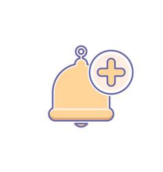 Add alarm alert bell icon call vector